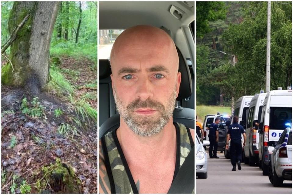 Aan deze boom (links) in het Dilserbos werd het lichaam van Jürgen Conings (46) gevonden.