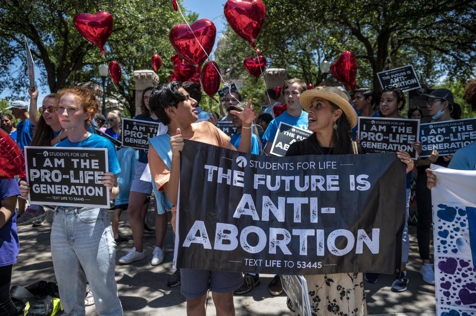 Anti-abortus protest in de Verenigde Staten.