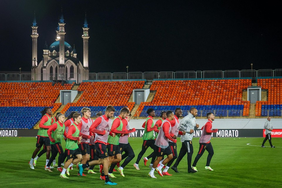 De Rode Duivels spelen niet in de Kazan Arena waar ze in 2018 Brazilië versloegen op het WK, maar wel in het kleinere en oudere Centralni Stadion.