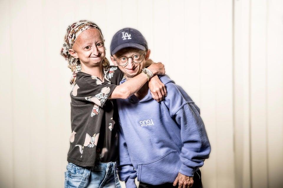 Amber (15) en haar broer Michiel (23) zijn de twee enige progeriapatiënten in België.
