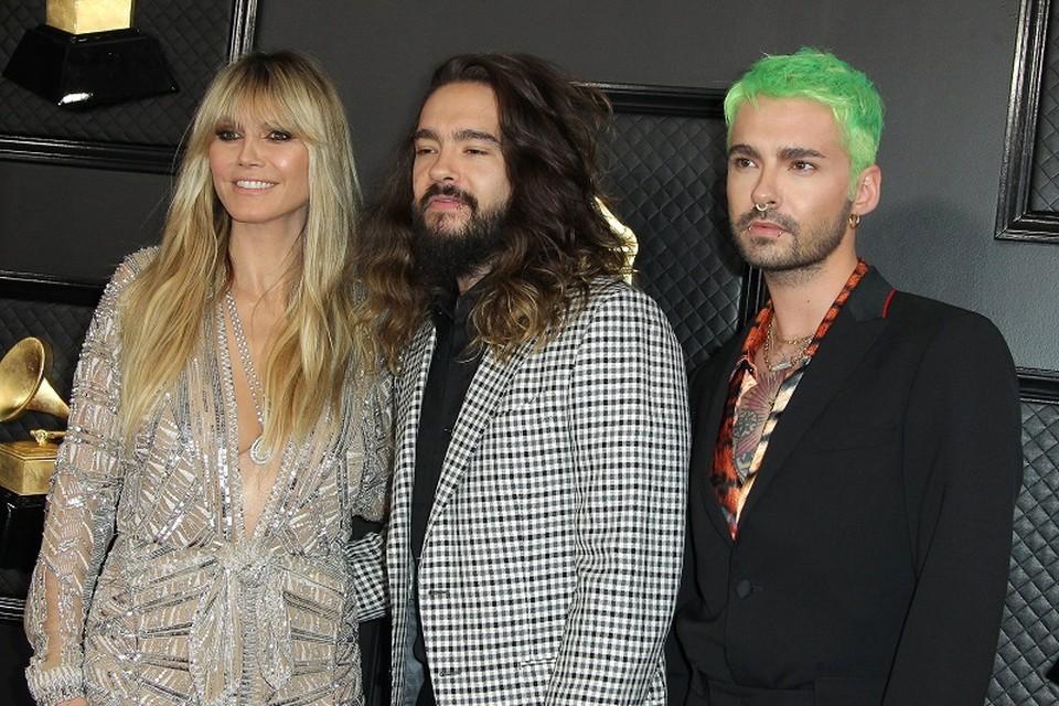 Heidi Klum met Tom en Bill Kaulitz