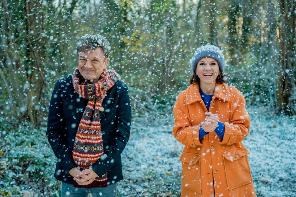 Bart Peeters en Siska Schoeters openden De Warmste Week en sluiten ze nu ook af.