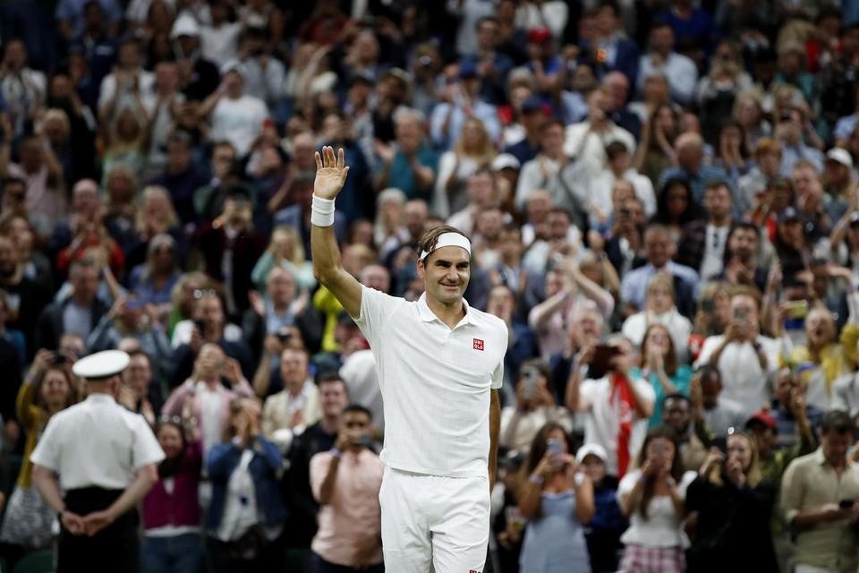 Federer haalde op Wimbledon nog de kwartfinales.