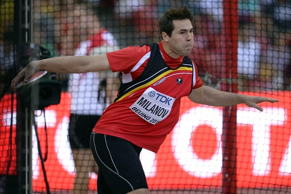 Philip Milanov is er donderdag op het WK atletiek in Peking in geslaagd zich te plaatsen voor de finale van het discuswerpen.