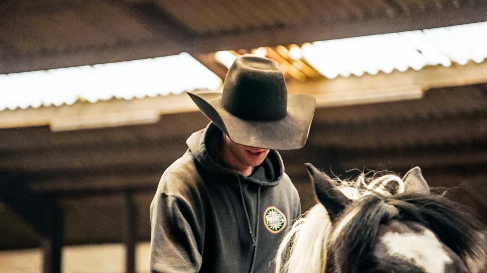William, een echte cowboy.