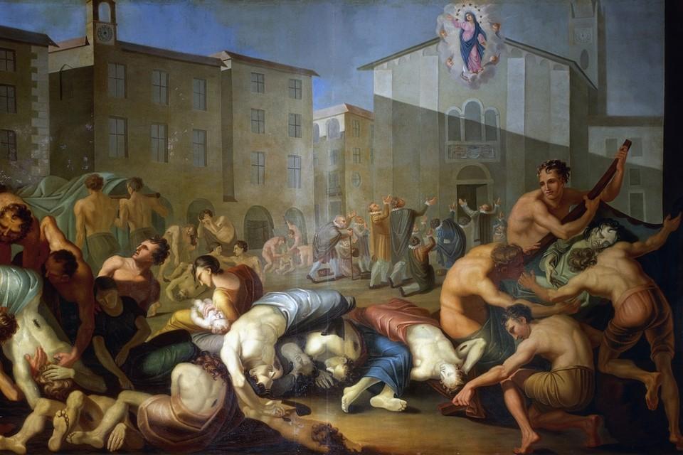 De pest zaaide terreur, maar droeg ook bij aan de vorming van moderne staten (foto: 'De plaag van 1630' van Luigi Vacca).