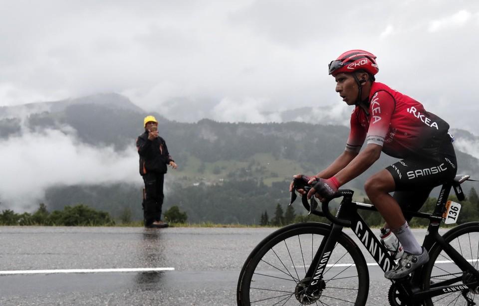 Nairo Quintana speelde een prominente rol op weg naar Tignes maar ook bij hem ging het licht uit.