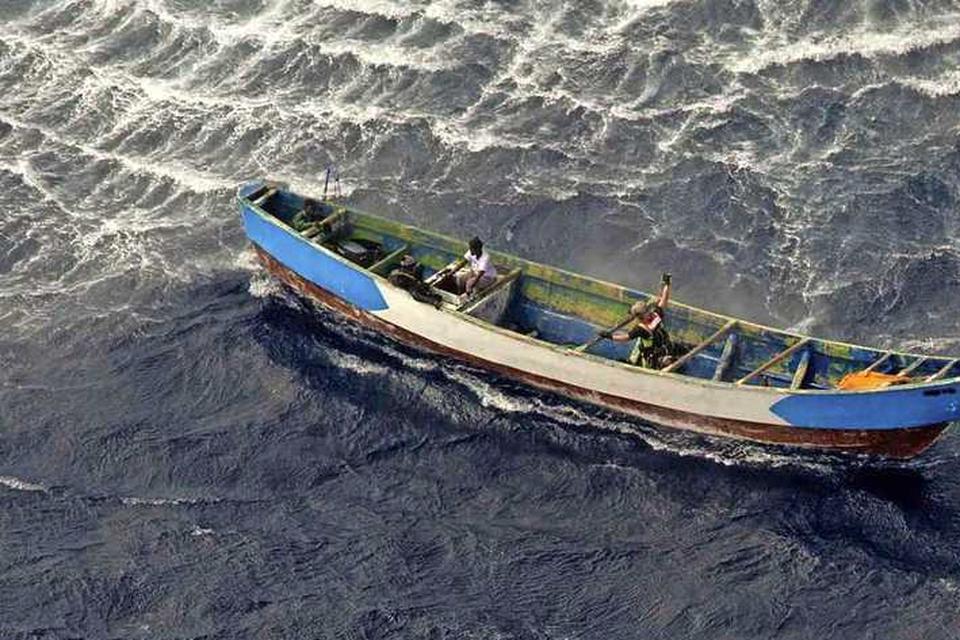 De boot waar Aicha op zat.