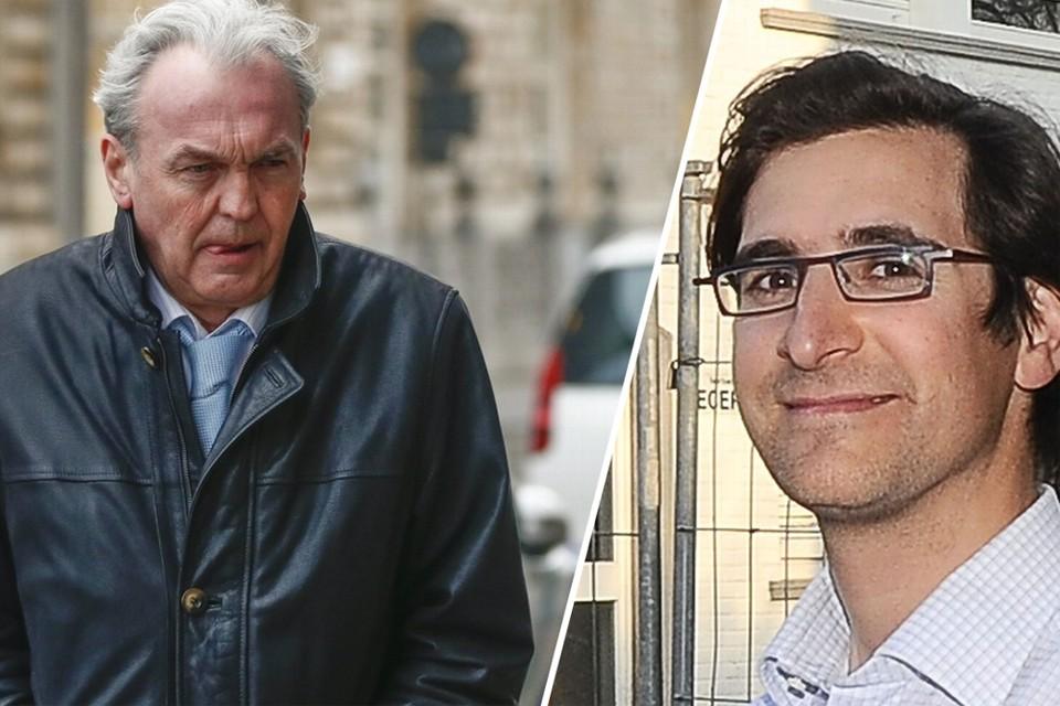 Voor het eerst in jaren mag André Gyselbrecht een weekendje huiswaarts. Rechts: slachtoffer Stijn Saelens.