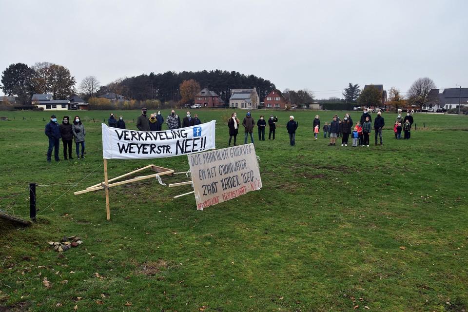 Eind vorig jaar voerde een actiegroep nog protest tegen de komst van de verkaveling.