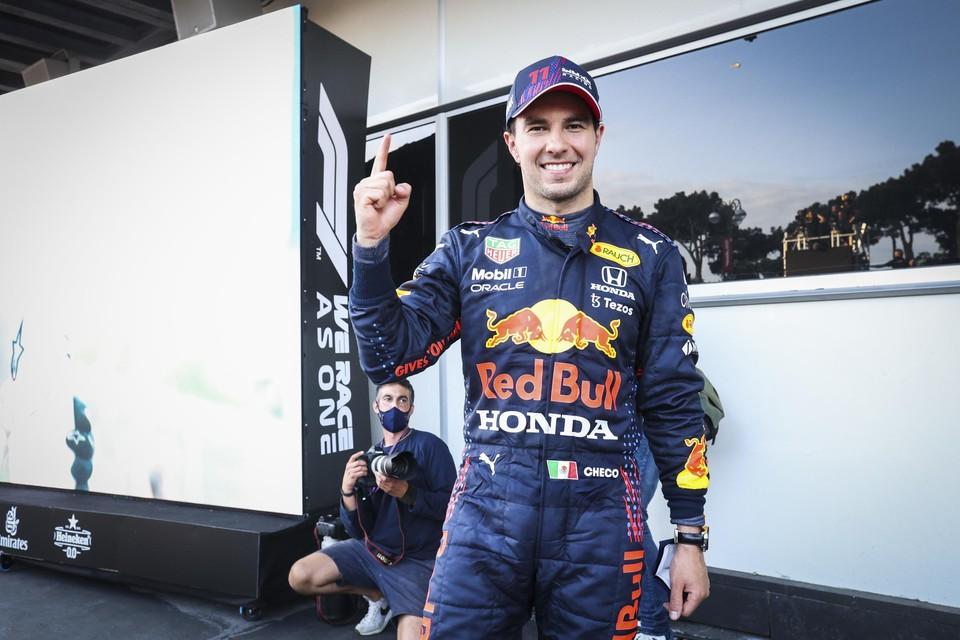 Sergio Pérez won zijn zesde GP voor Red Bull Racing.