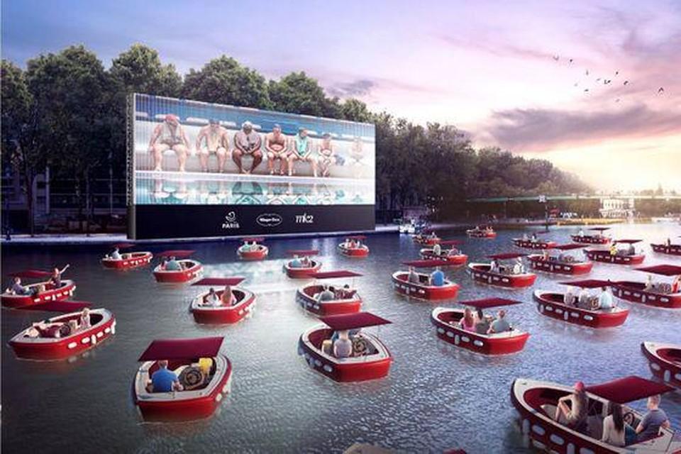 Parijs wil films vertonen op het water.