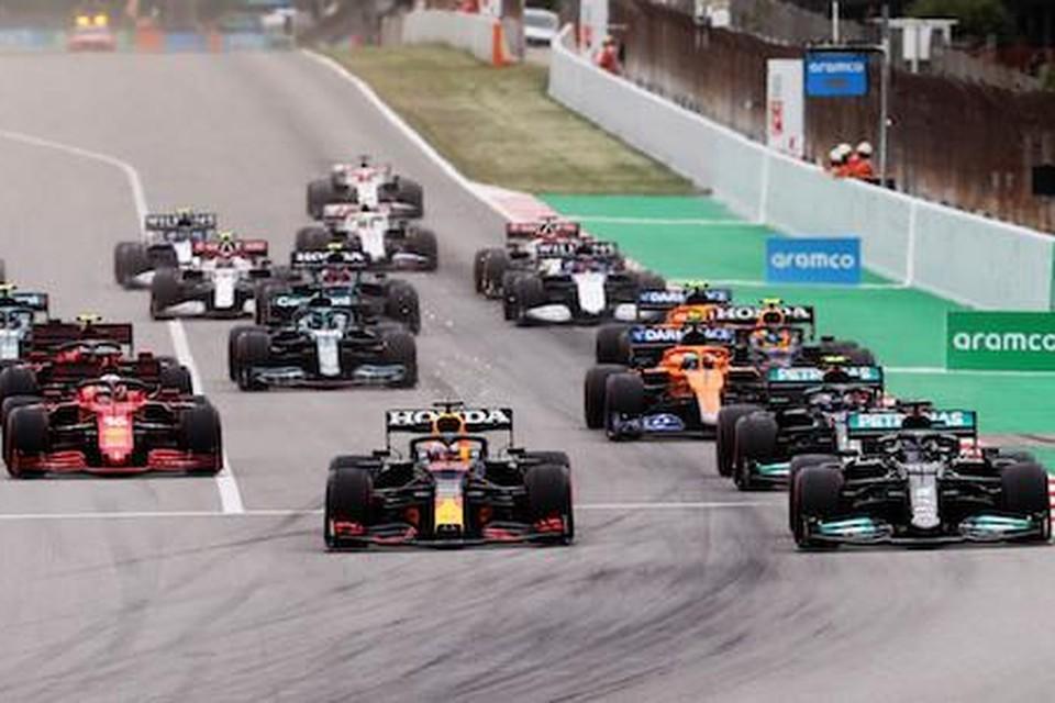De start van een F1-race