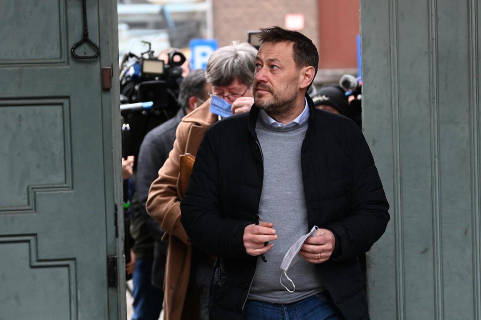 Bart De Pauw tijdens de inleidende zitting van zijn proces in Mechelen.