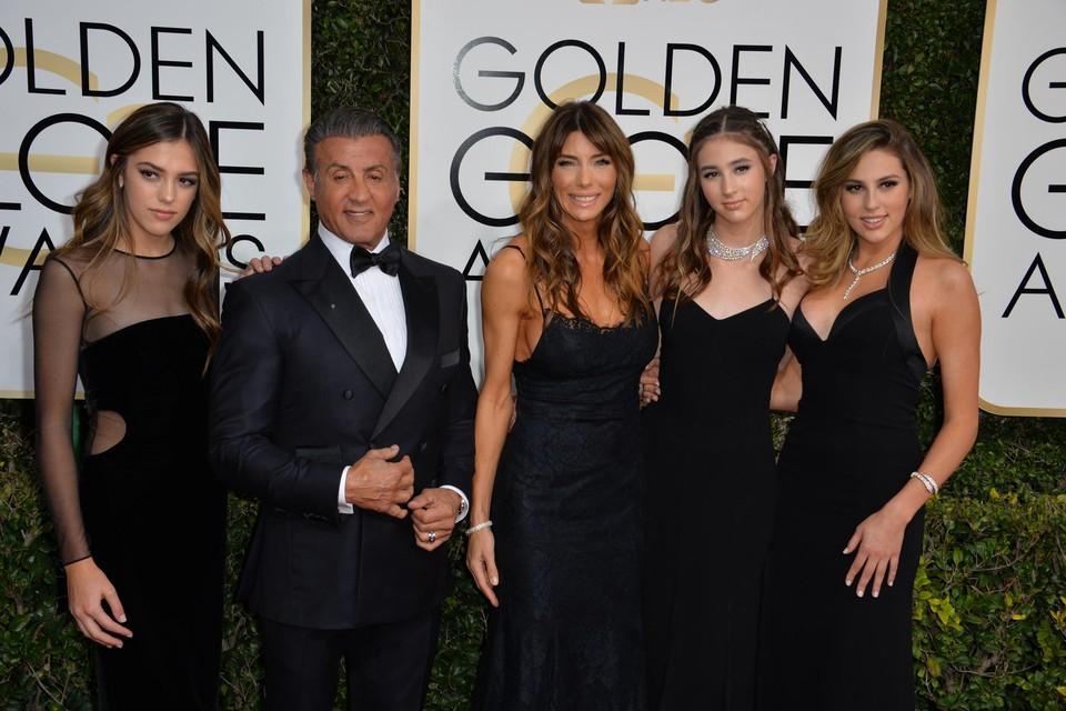 De Stallones in 2017 op de Golden Globe Awards.