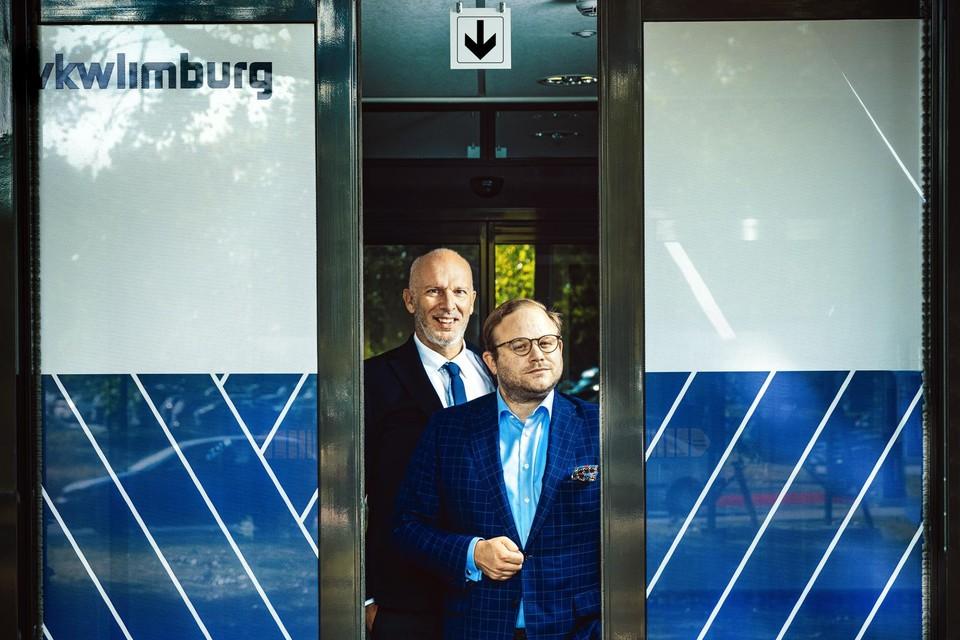 Marc Meylaers en Ruben Lemmens van VKW Limburg.