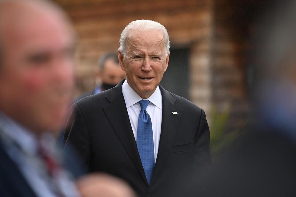 Joe Biden, op de G7 die dit weekend in Groot-Brittannië plaatsvindt.