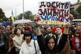 thumbnail: Protest in Oekraïne tegen de pro-Russische rebellen in het oosten van het land