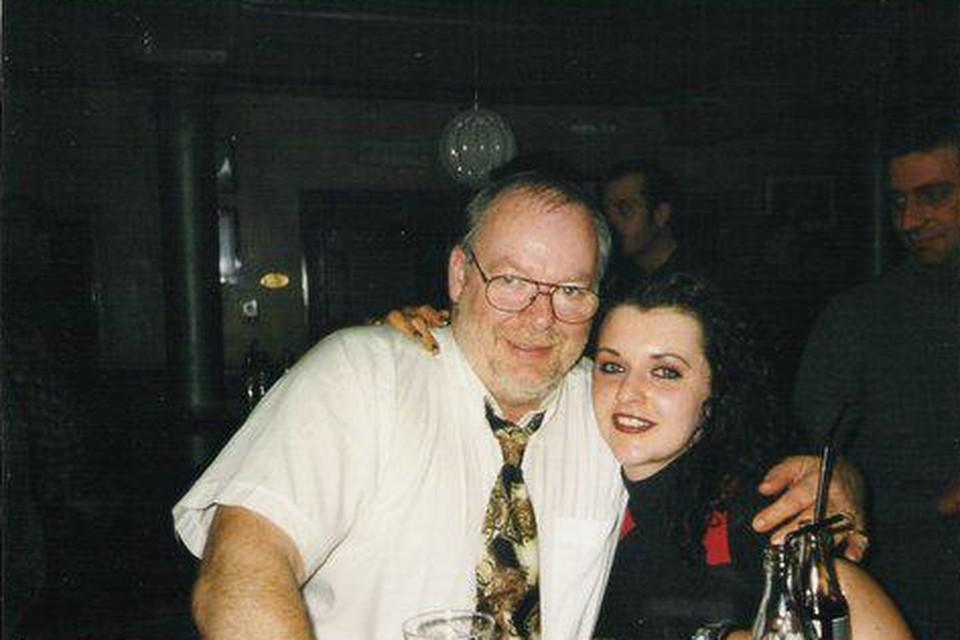Priscilla Leurs met haar vader Willy.
