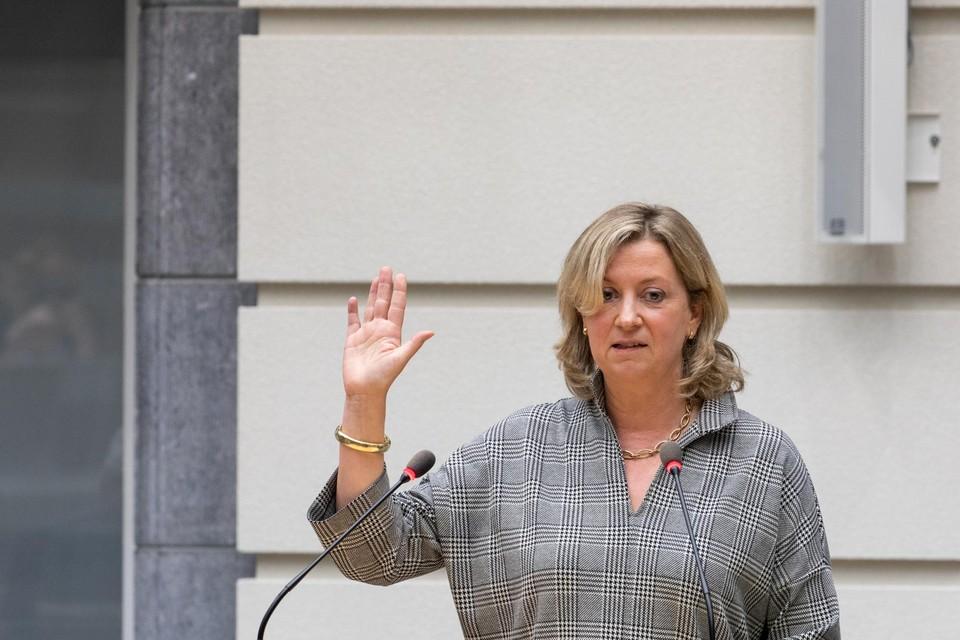 Eedaflegging van Rita Moors in het Vlaams Parlement.