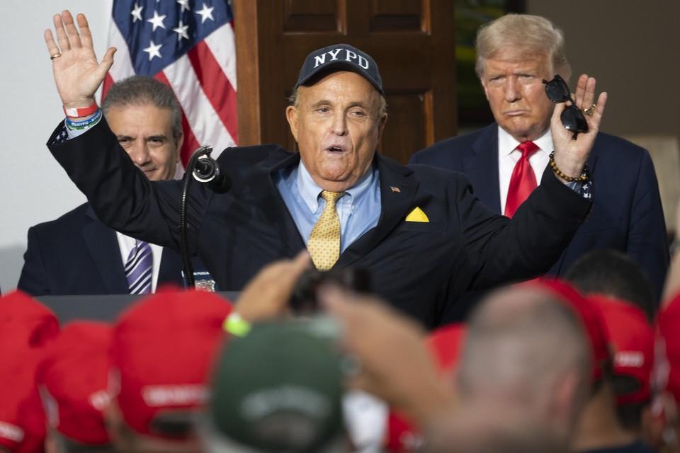 Gewezen burgemeester van New York Rudy Giuliani.