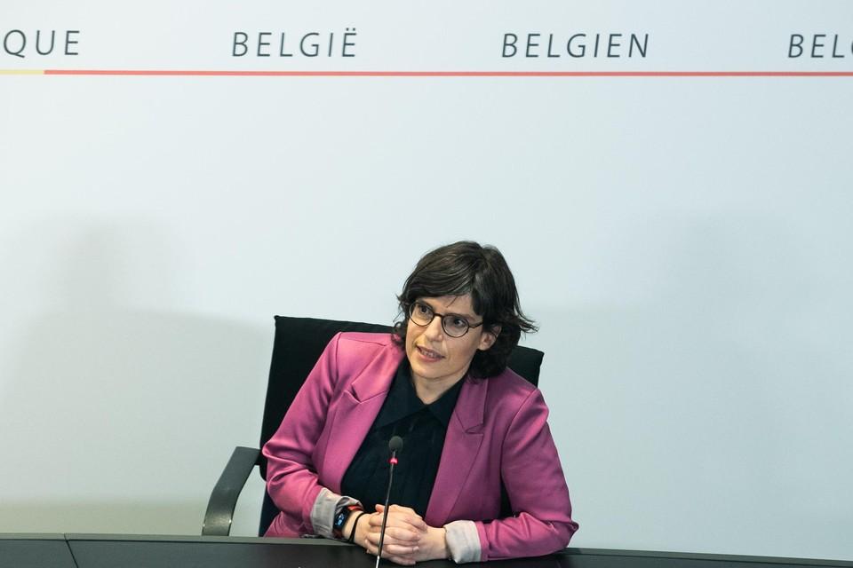 Federaal minister van Energie, Tinne Van der Straeten (Groen).