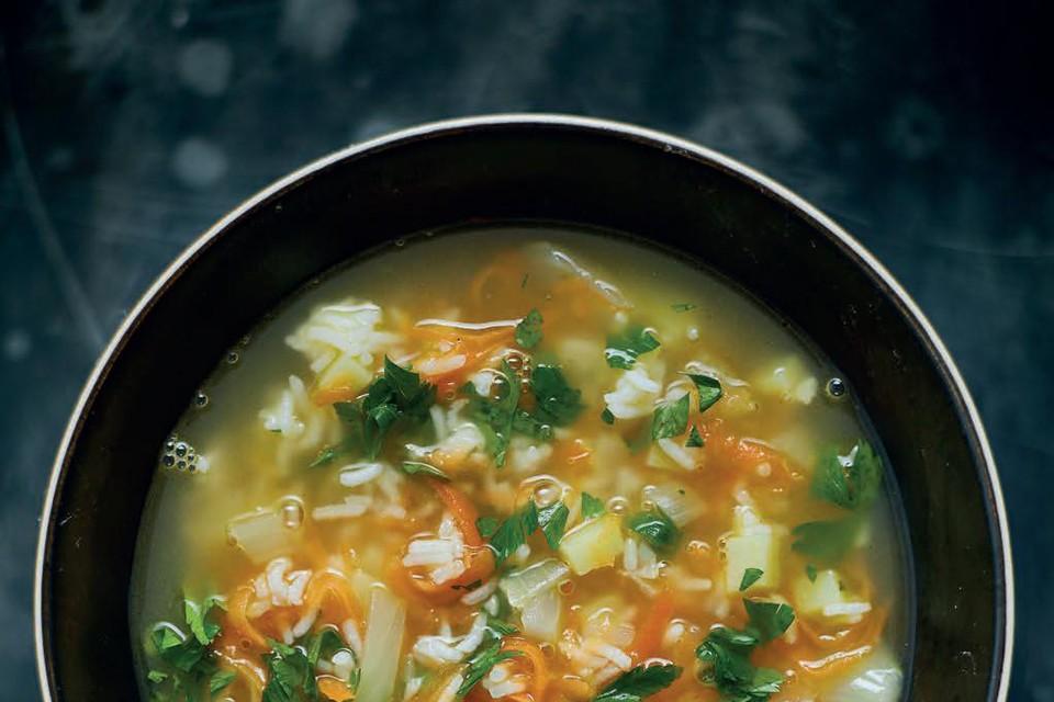 E171 wordt onder meer in soepen gebruikt.