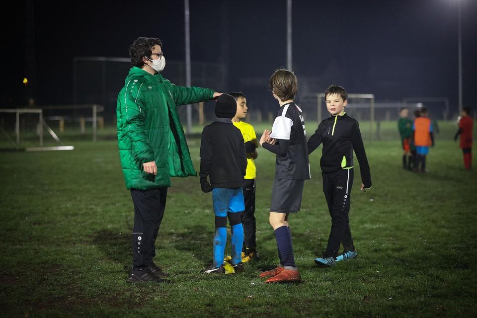 Spelers tot U13 mochten blijven trainen tijdens de coronacrisis.
