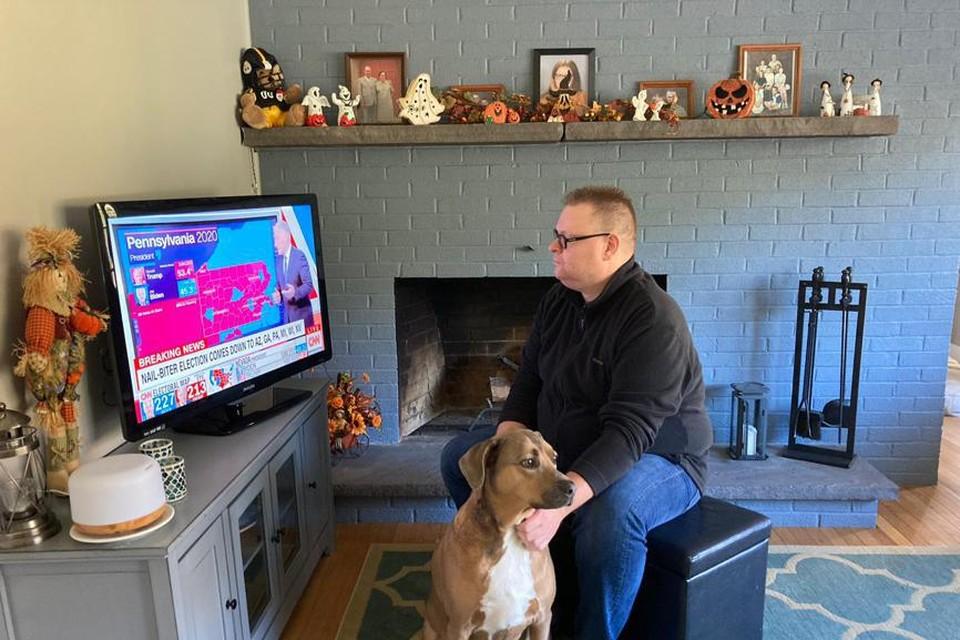 Truienaar Gunter Volders woont al twintig jaar in Pennsylvania, de staat de race naar het Witte Huis zaterdag definitief in het voordeel van Biden liet kantelen.