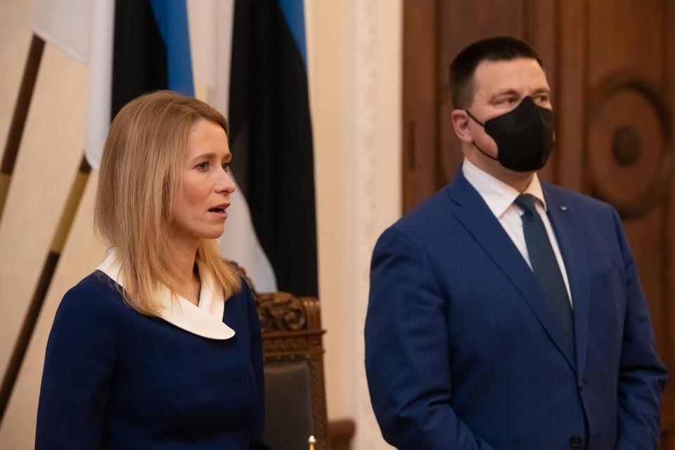 Kaja Kallas en Juri Ratas