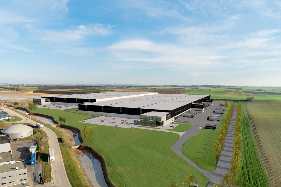 Zo gaat de nieuwe site van XPO Logistics in Tongeren er tegen het eind van het jaar eruitzien.