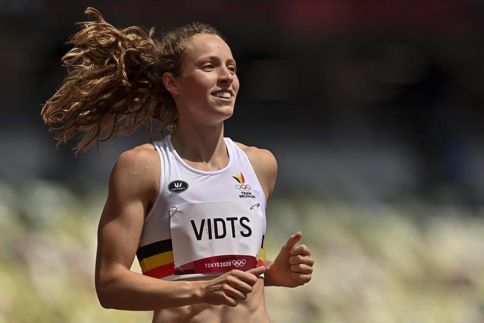 Noor Vidts was de Belgische verrassing van de dag. Zij steeg op de eerste dag van de zevenkamp boven zichzelf uit.
