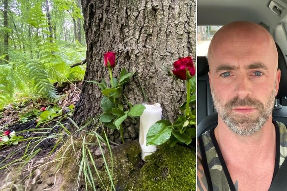 Op de plek in het Dilserbos waar Conings is gevonden, werden deze week al bloemen en een kaars geplaatst.