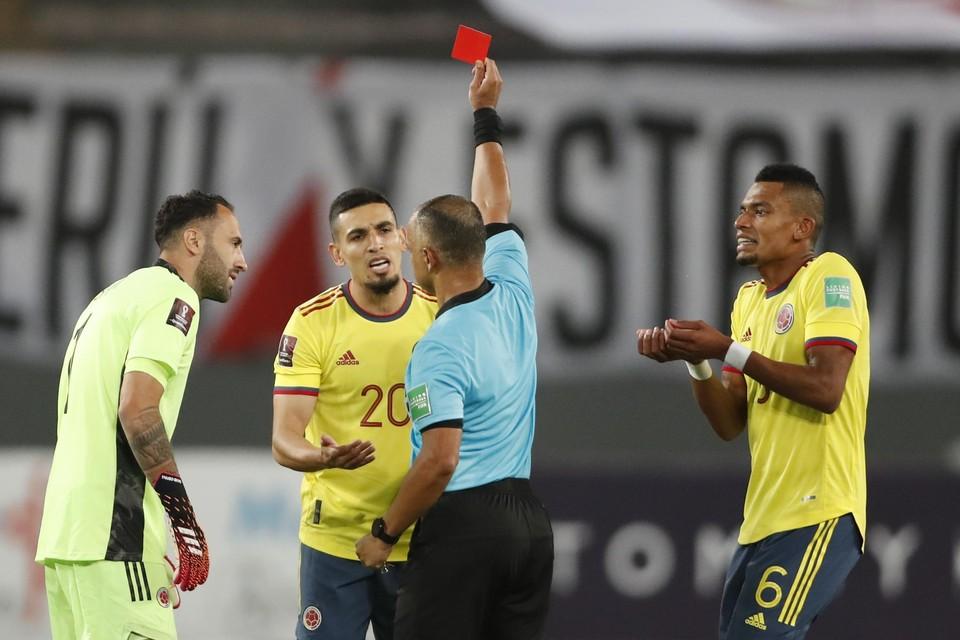 Munoz kreeg onlangs nog rood bij zijn debuut voor Colombia in Peru.