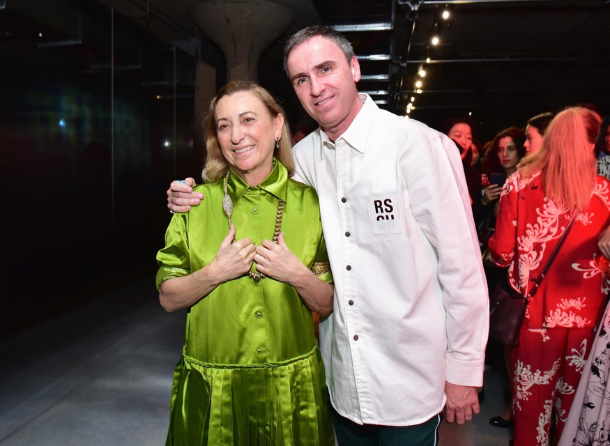 Raf Simons en Miuccia Prada.