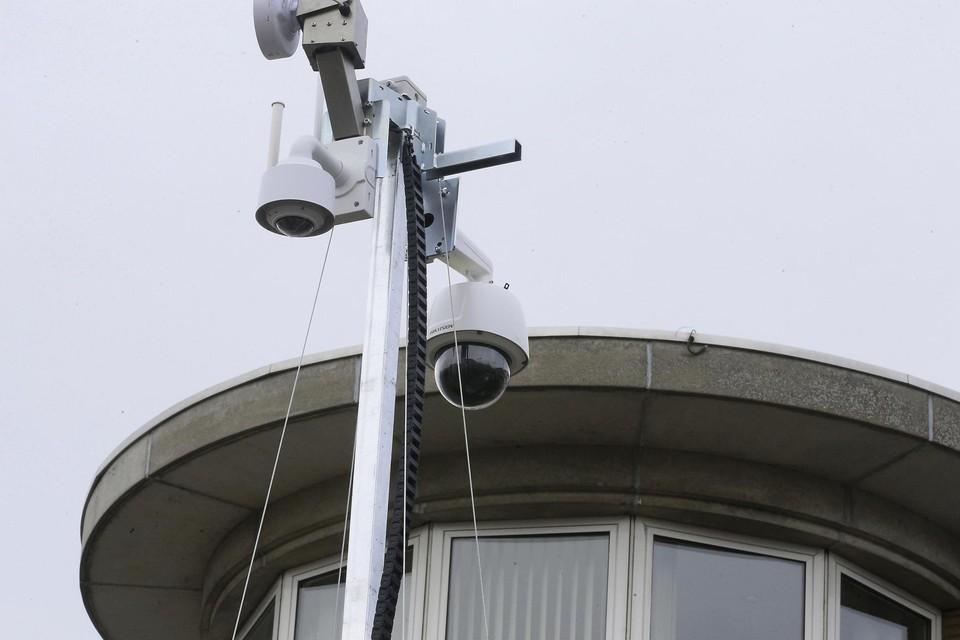 Hier waakt de politie! Op de foto: een bewakingscamera in Knokke-Heist.