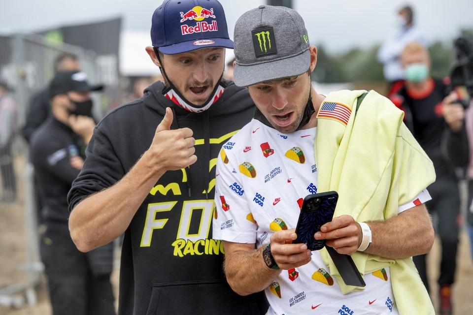 MotoGP-rijder Jack Miller en wielrenner Mark Cavendish.