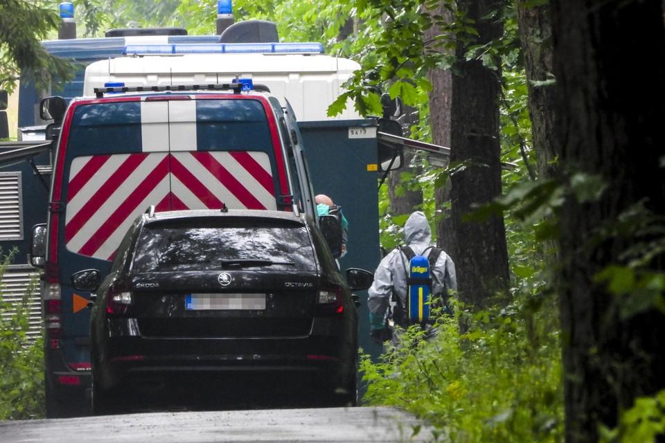 Het drugslabo werd maandag ontdekt in het Zutendaalse gehucht Stalken.