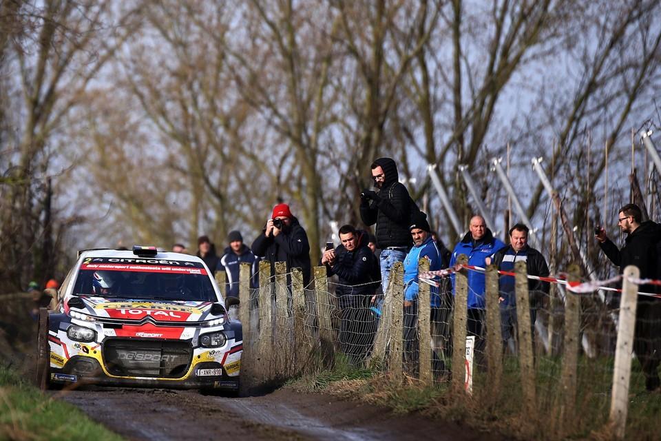 """Kris Princen met zijn Citroën in de Rally van Haspengouw. """"Kijk uit voor de jonge Grégoire Munster"""", weet de Gingelomnaar."""