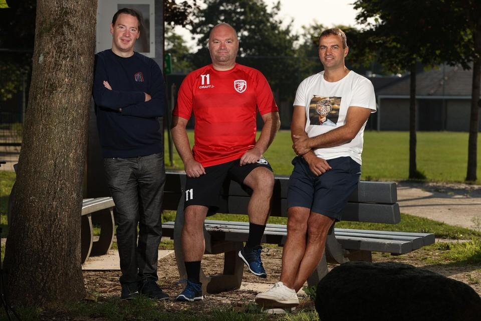 Tijl Habraken (Hasselt), Bjorn Timmermans (Pelt) en Bart Lenders (Bocholt): klaar voor de start van de BENE-League.