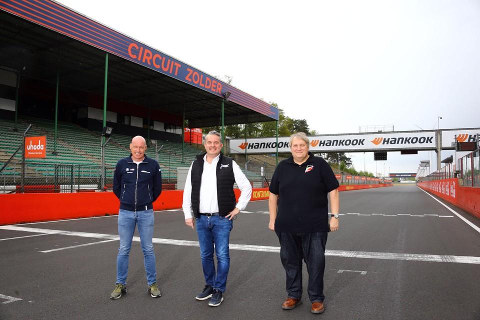 Rondetafel met de drie voornaamste organisatoren op Circuit Zolder: (vlnr.) Hans Van de Ven, Harry Steegmans en Andy Jaenen.