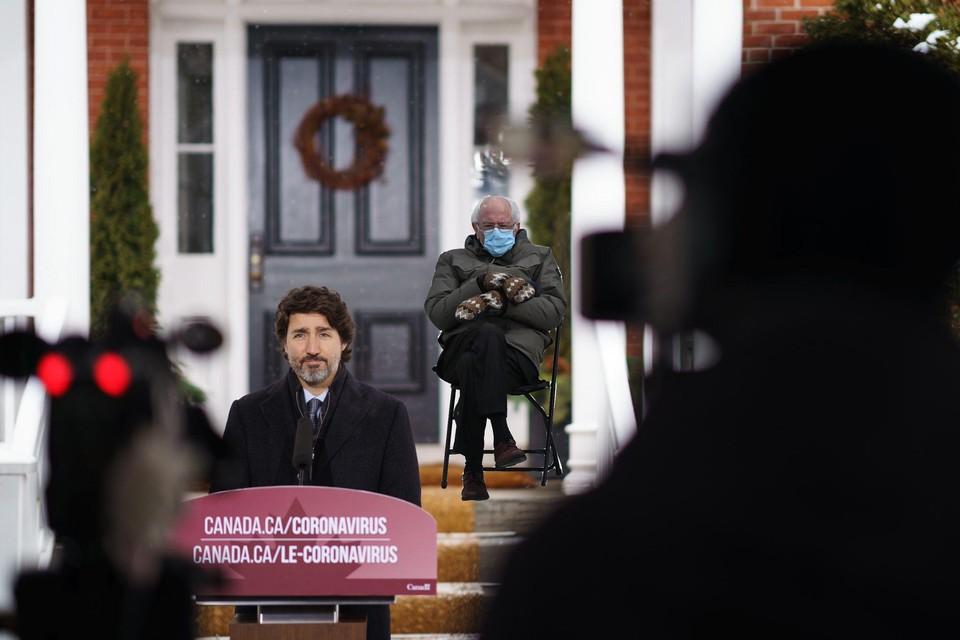 De tweet van de Canadese premier Justin Trudeau moet zijn burgers thusi doen blijven.