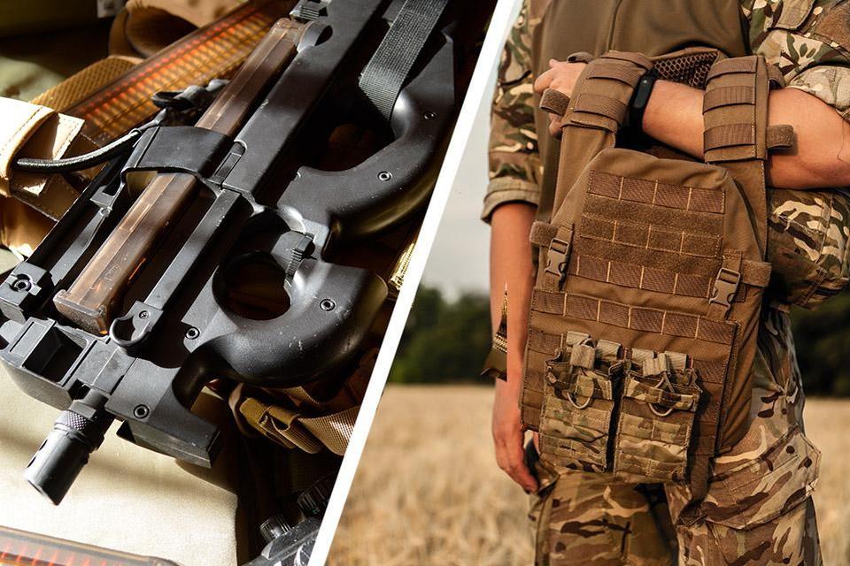 De Dilsenaar heeft onder andere een FN P90 machinegeweer en een kogelvrij vest.