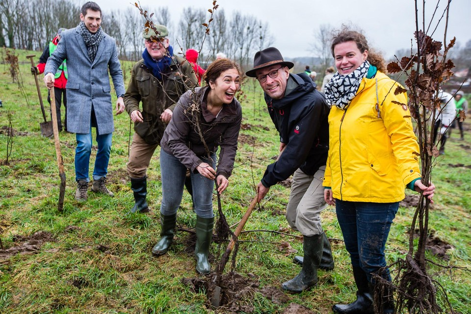 Zuhal Demir plantte begin dit jaar één van de 8.850 inheemse bomen in Hoeselt, goed voor een bos van 6 voetbalvelden groot.
