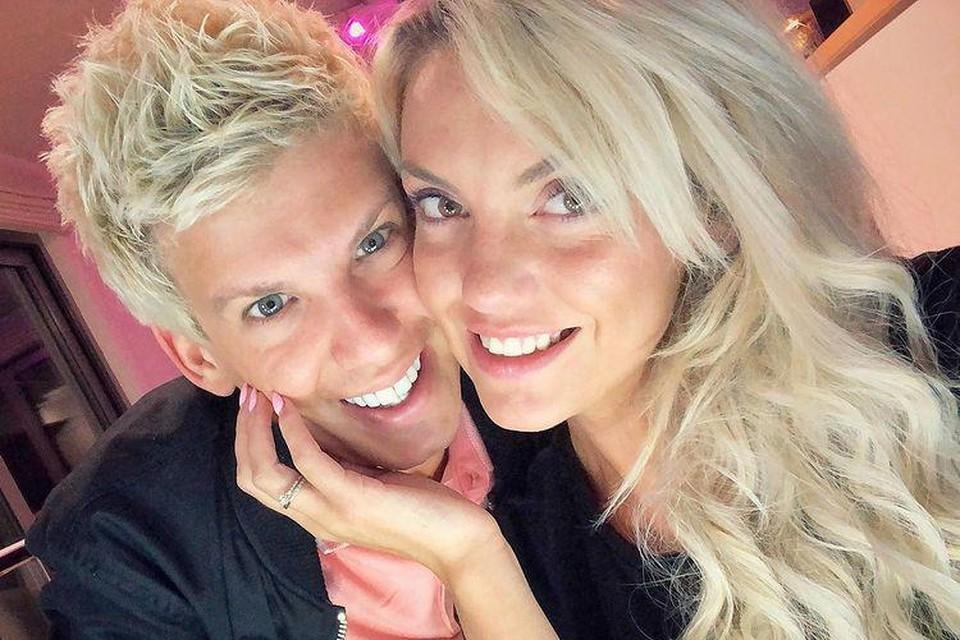 Kelly Scheppers, samen met haar vriend Christiaan.