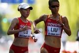 thumbnail: Liu Hong bezorgde gastland China vrijdag de eerste gouden medaille op dit WK, in het 20 kilometer snelwandelen.