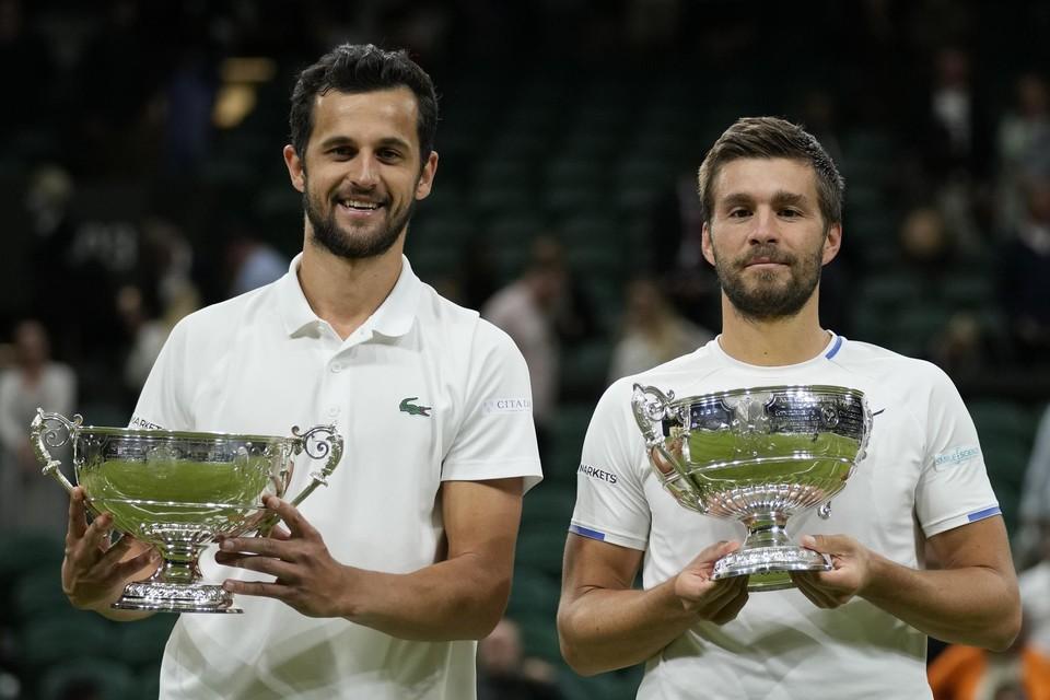 Mate Pavic (links) en Nikola Mektic.