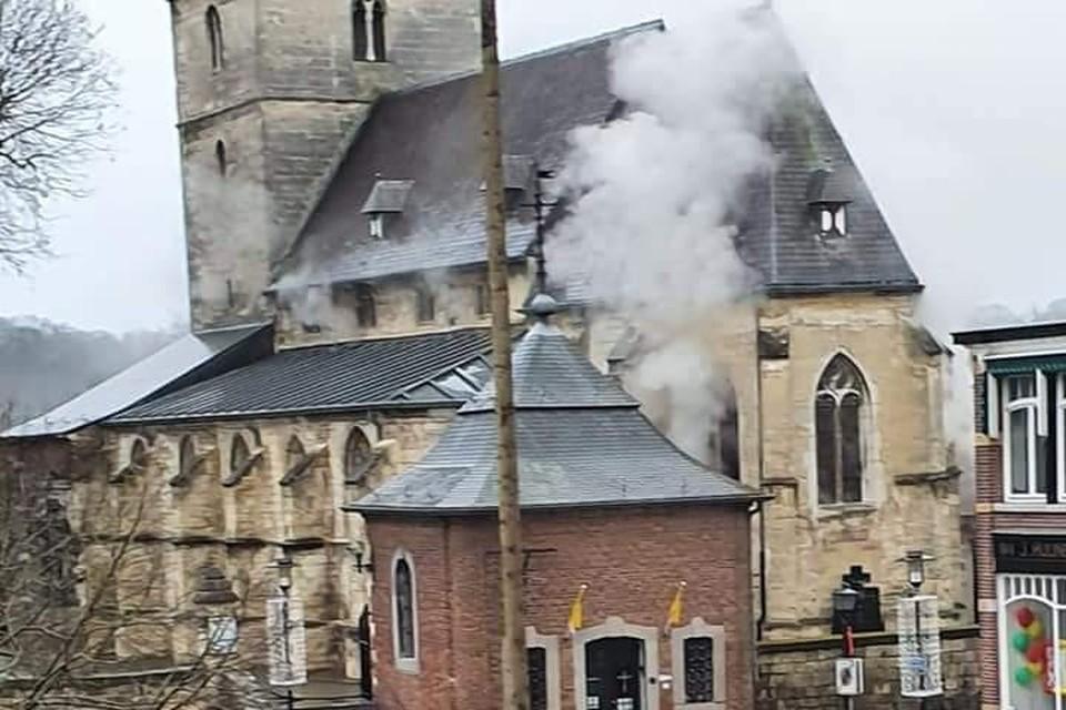 Zware schade aan interieur Sint-Brigidakerk Noorbeek.