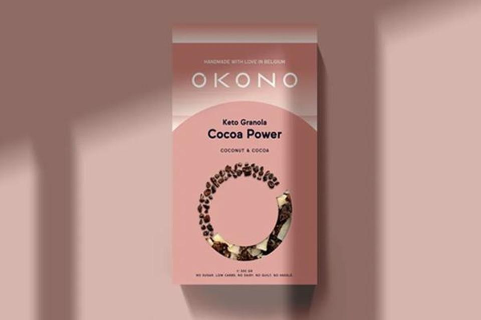 Doos granola die past binnen een keto-levensstijl - Okono - 8,40 euro (300 g)