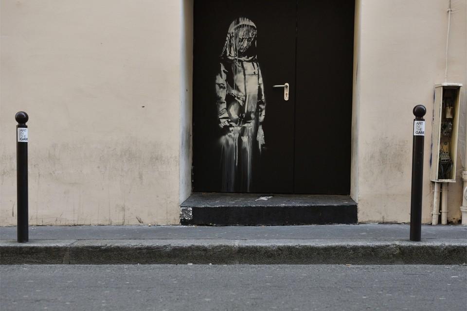 De afbeelding was een eerbetoon aan negentig slachtoffers van een aanval op concerthal Bataclan.